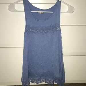 Tops - Blue tank top